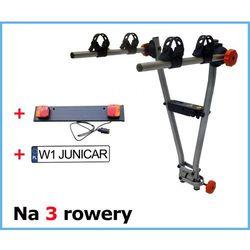 AGURI JET 3R bagażnik na hak na 3 rowery - zestaw z listwą oświetleniową