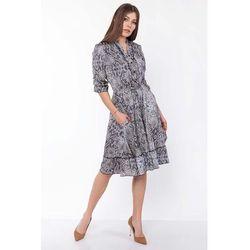 8607411d84 suknie sukienki delikatna sukienka z falbankami w motywy kwiatowe ...