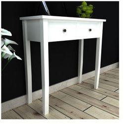 Biała toaletka z dwoma szufladami Zapisz się do naszego Newslettera i odbierz voucher 20 PLN na zakupy w VidaXL!