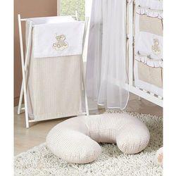 MAMO-TATO Kosz na bieliznę Śpioch na chmurce brąz z białym