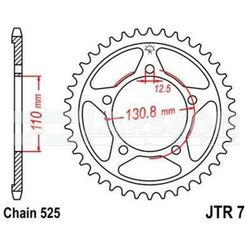 Zębatka tylna stalowa JT R 7-45, 45Z rozmiar 525 2302625 BMW S 1000