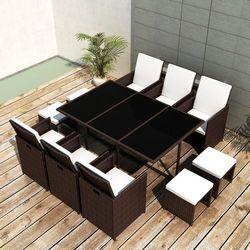 vidaXL Zestaw mebli polirattanowych 6 foteli+4 taborety Darmowa wysyłka i zwroty