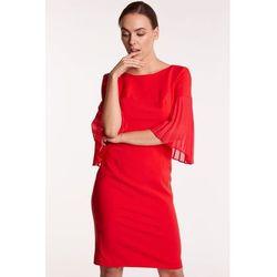 81e9a24129 ... (suknie sukienki klasyczna czerwona sukienka japan style) we wszystkich  kategoriach. Czerwona sukienka z plisowanymi rękawami