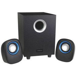 Głośniki OMEGA Speakers 2.1 OG-22W Wood (42289) Czarny