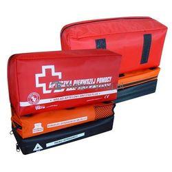 Apteczka samochodowa z tkaniny wodoodpornej z możliwością rozdzielenia elementów apteczki DIN 13164 PLUS