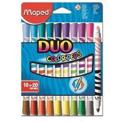 Flamastry Colorpeps Duo dwustronne 10 sztuk