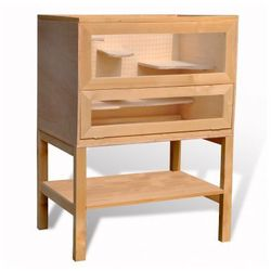 Drewniana klatka dla chomika prostokątna Zapisz się do naszego Newslettera i odbierz voucher 20 PLN na zakupy w VidaXL!