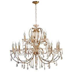 Żyrandol LAMPA wisząca AURORA 30-99801 Candellux metalowa OPRAWA świecznikowa kryształki złoty