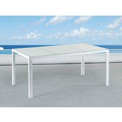Stół ogrodowy biały – 160 cm - meble ogrodowe – aluminium - CATANIA
