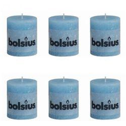 Bolsius Świece rustykalne 80 x 68 mm Błękit Aqua Zapisz się do naszego Newslettera i odbierz voucher 20 PLN na zakupy w VidaXL!