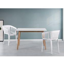 Stół biały - 120x80 cm - kuchenny - do jadalni - MEDIO