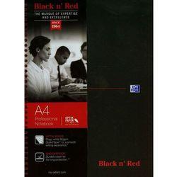 Kołobrulion A4 Black n' Red w linie 140 kartek