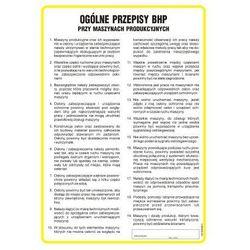 Ogólne przepisy BHP przy maszynach produkcyjnych