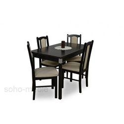 ZESTAW DAFNE I stół i 4 krzesła / FORNIR / ROZKŁADANY / TANIO