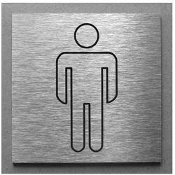 Piktogram, Symbol, Znak, Oznaczenie - Toaleta WC Męskie - 10x10cm