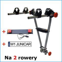 AGURI JET 2R bagażnik na hak na 2 rowery - zestaw z listwą oświetleniową
