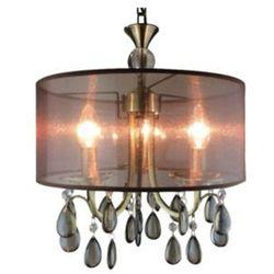 LAMPA wisząca MARSALA LP-3276-3P Light Prestige dekoracyjna OPRAWA zwis z kryształkami czarny