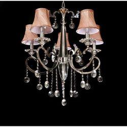 LAMPA wisząca LDP 8153 - 6 Lumina Deco kryształowa OPRAWA ŻYRANDOL crystal chrom beżowy