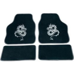 Zestaw wykładzin/dywaników tekstylnych zdobionych cartrend 1400-03 Mystery, srebrne