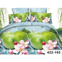 200x220 4cz Komplet Pościeli 3D Jabłka Wiosna 165
