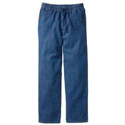 najnowsza zniżka fantastyczne oszczędności najniższa cena Spodnie z gumką w talii Classic Fit bonprix niebieski