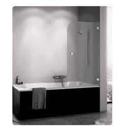 Parawan nawannowy SanSwiss PURB jednoczęściowy prawy 85x140 cm, chrom, szkło przeźroczyste PURBD08501007
