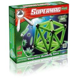 Supermag Maxi Glow, klocki magnetyczne, 44 elementy Darmowa dostawa do sklepów SMYK