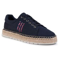 Espadryle TOMMY HILFIGER - Nautical Th Lace Up Espadrille FW0FW04749 Desert Sky DW5