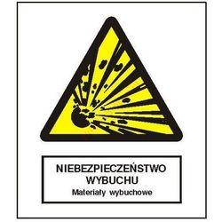 Znak Niebezpieczeństwo pożaru - Materiały wybuchowe FB