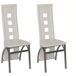 vidaXL Dwa krzesła jadalniane, białe. Darmowa wysyłka i zwroty
