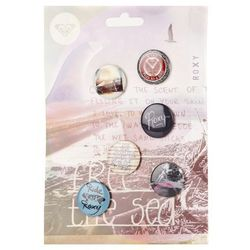 plakietki Roxy Winter Badges - White