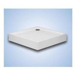 Brodzik kwadratowy Hüppe Xerano 80 x 80 x 6 cm, biały, zintegrowana obudowa 840101055