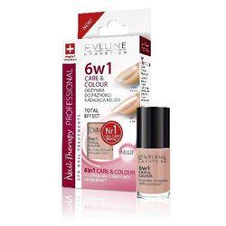 Eveline Nail Therapy Lakier odżywka 6w1 Care & Colour Nude 5ml