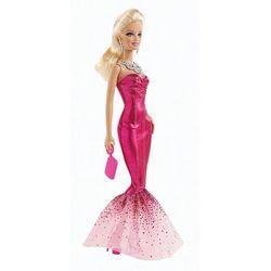 Barbie, lalka w długiej, różowej sukience Darmowa dostawa do sklepów SMYK