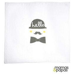 MAMAS&PAPAS Pielucha muślinowa Moustache 100 x 100 cm
