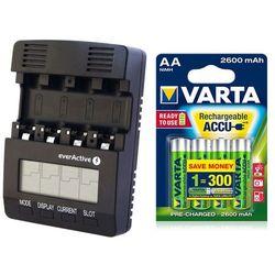 ładowarka everActive NC-3000 + 4 x akumulatorki Varta Pro R2U R6 AA 2600mAh