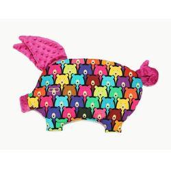 Poduszka-przytulanka ŚWINKA - sleepy pig La Millou - raspberry+jelly bears