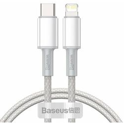 Baseus High Density Braided | Kabel Type-C Lightning Power Delivery 20W do serii iPhone 12 - 1m