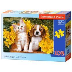 Castorland, Kotki i pieski, puzzle, 108 elementów Darmowa dostawa do sklepów SMYK