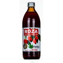 Róża 100% Sok EkaMedica płyn - 500 ml (but.szkl.)