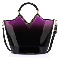 3f3e845d18cbf wloska torebka kuferek czarna skora lakierowana w kategorii Torebki ...