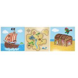 FANTASY FIELDS F.FIELDS Piraci Obrazki Na ŚcianęZestaw 3 Obrazk