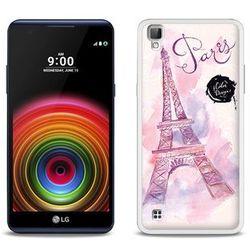 Fantastic Case - LG X Power - etui na telefon Fantastic Case - różowa wieża eiffla