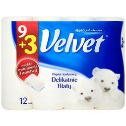 VELVET 12szt Delikatnie Biały papier toaletowy
