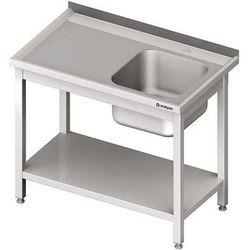 Stół ze zlewem jednokomorowym z półką STALGAST 1900x600x850 prawy
