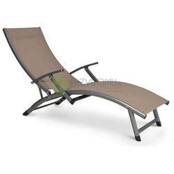Leżak ogrodowy RELAX brązowy