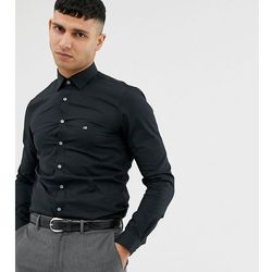 aab231732fddf4 Calvin Klein skinny fit shirt easy iron black exclusive at asos - Black