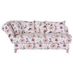 ENNIS kremowa sofa w kwiaty - wielokolorowe