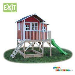 Domek ogrodowy dla dzieci EXIT Loft 550 czerwono-brązowy