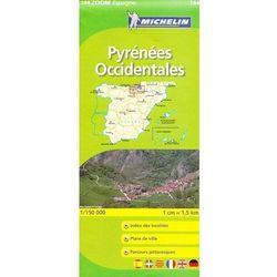 Pireneje Zachodnie mapa 1:150 000 Michelin (opr. miękka)